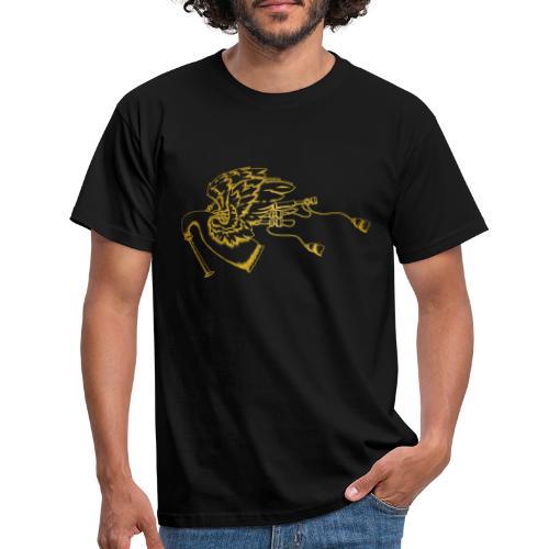 Geflügelte Bagpipe (wie gold) - Männer T-Shirt
