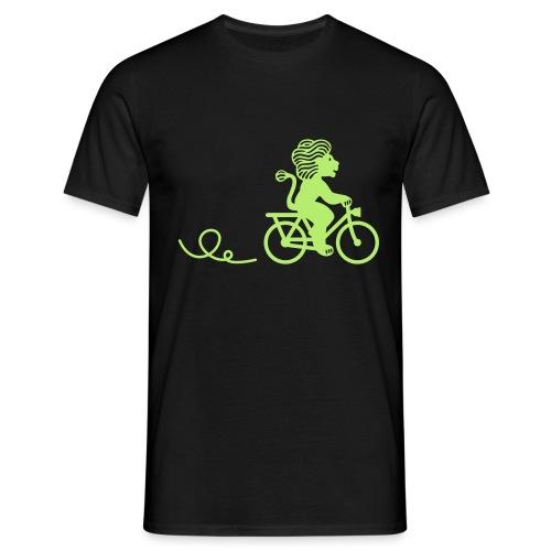 Züri-Leu beim Velofahren ohne Text - Männer T-Shirt
