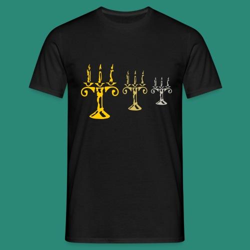 edles Kerzenlicht - Männer T-Shirt