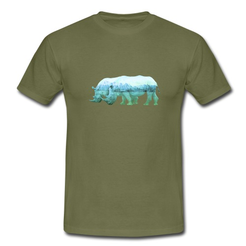 RHINOS, DIE NASHÖRNER IN DEN ALPEN - Männer T-Shirt