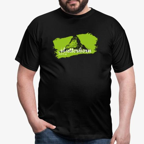 Matterhorn - Cervino en verde - Men's T-Shirt