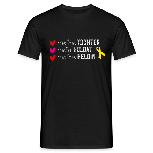 Meine Tochter Soldat Heldin weiss - Männer T-Shirt