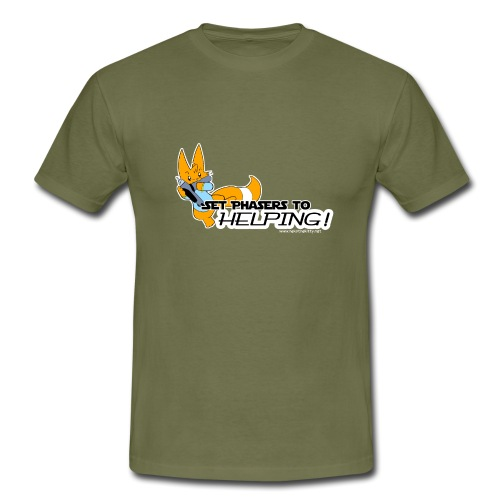 Set Phasers to Helping - Men's T-Shirt