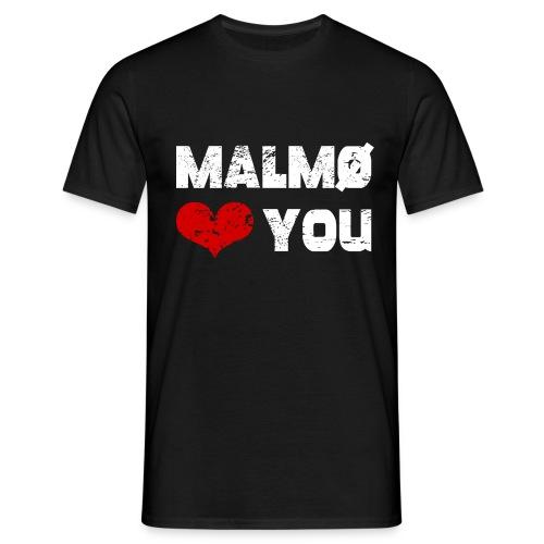 Malmö <3 dig - T-shirt herr
