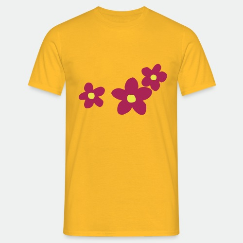 Three Flowers - Men's T-Shirt
