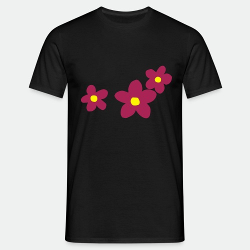 Three Flowers - Men's T-Shirt