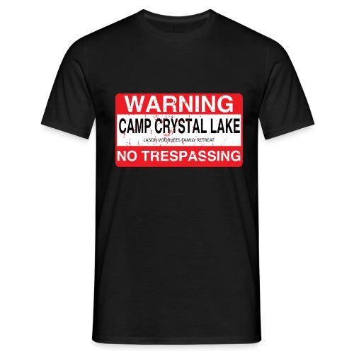 Camp Crystal Lake No Trespassing - T-shirt Homme