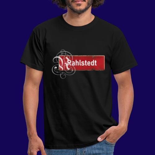 (Hamburg-) Rahlstedt Ortsschild + pompöses Initial - Männer T-Shirt