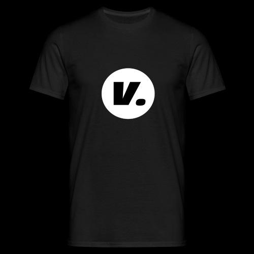 Ventura Black V Logo - Mannen T-shirt