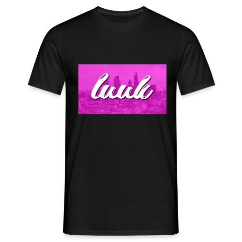 Box Logo Roze - Mannen T-shirt