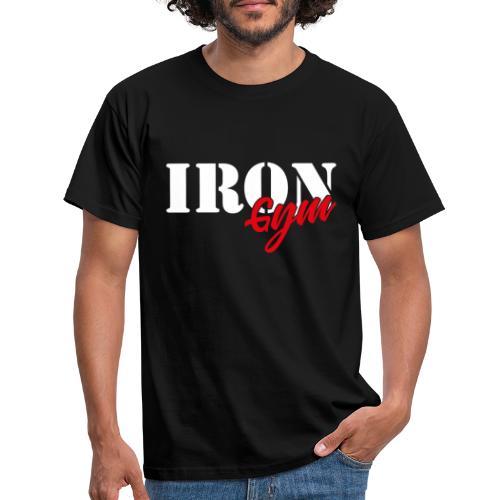 iron gym logo white - Camiseta hombre