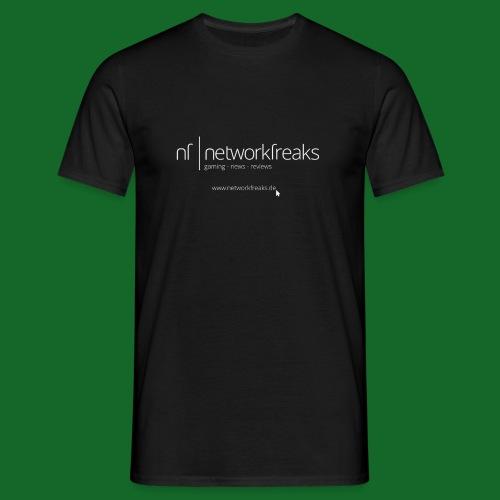 T-Shirt NetworkFreaks Weiße Aufschrift - Männer T-Shirt