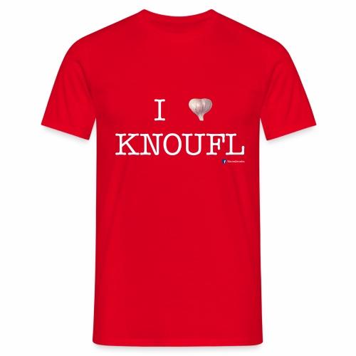 i love knoufl white - Männer T-Shirt