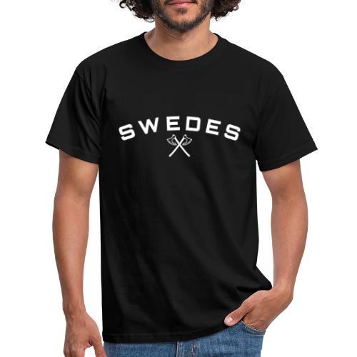 swedes, white print - T-shirt herr