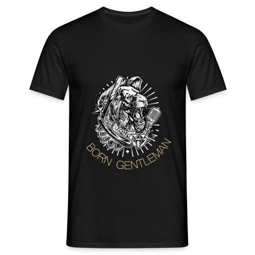 Born Gentleman Lion Design - Männer T-Shirt
