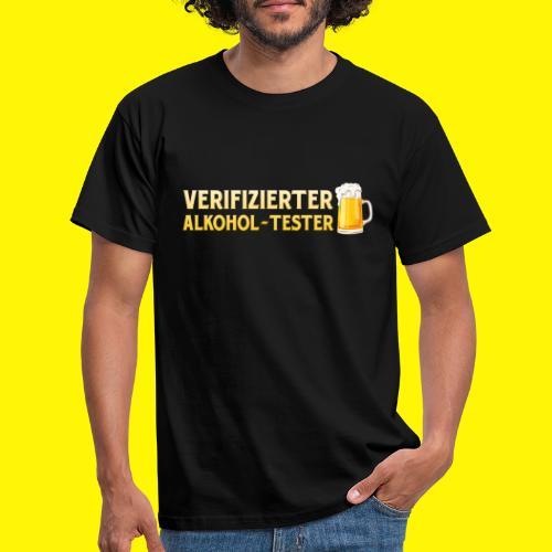 Verifizierter Alkohol-Tester - Männer T-Shirt