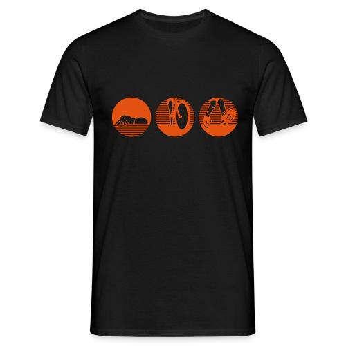 swim bike run ohne Text Traithlon - Männer T-Shirt