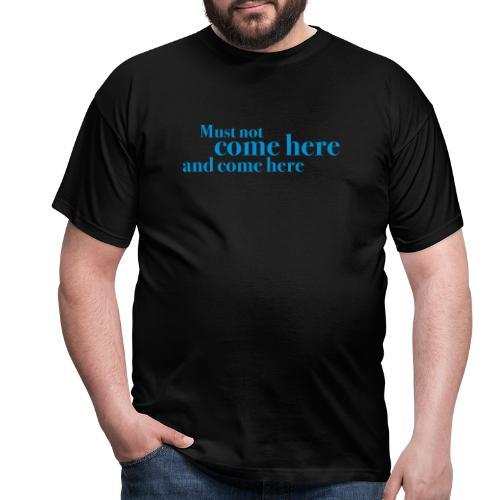 comehere - T-skjorte for menn
