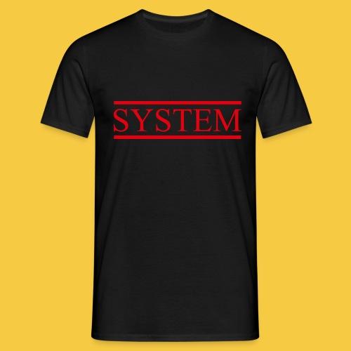 SYSTEM Balken rot - Männer T-Shirt