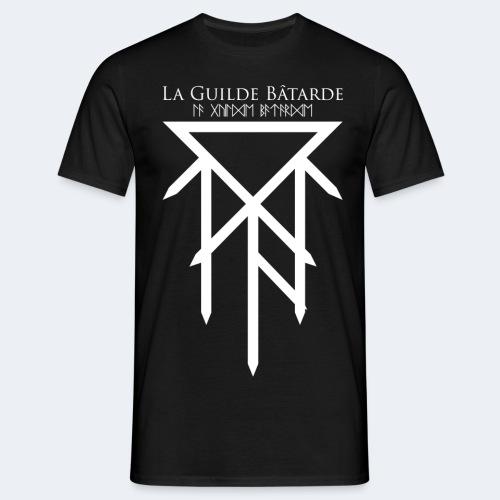 Logo dessus dessous blanc - T-shirt Homme