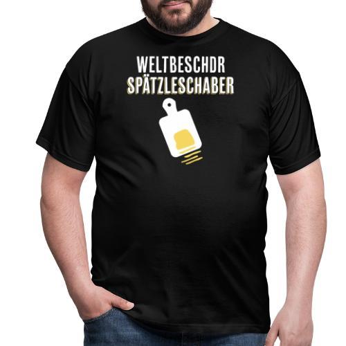 Spätzleschaber schwäbisches Geschenk kochen essen - Männer T-Shirt