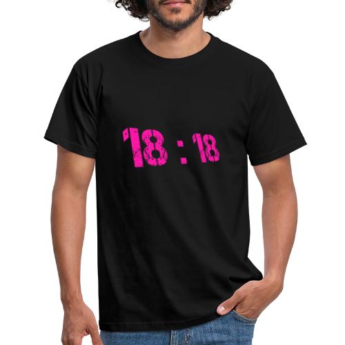 18:18 Pink - T-shirt Homme