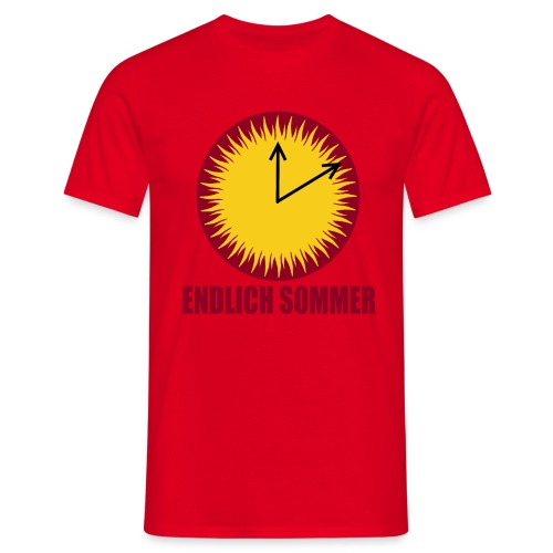 Endlich Sommer - Männer T-Shirt
