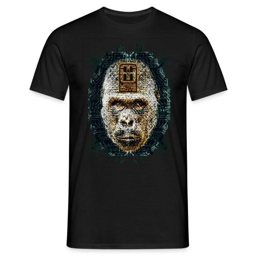e gorilla kopf shirt3 png - Männer T-Shirt