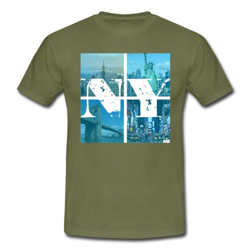 NEW YORK BLUE - Männer T-Shirt