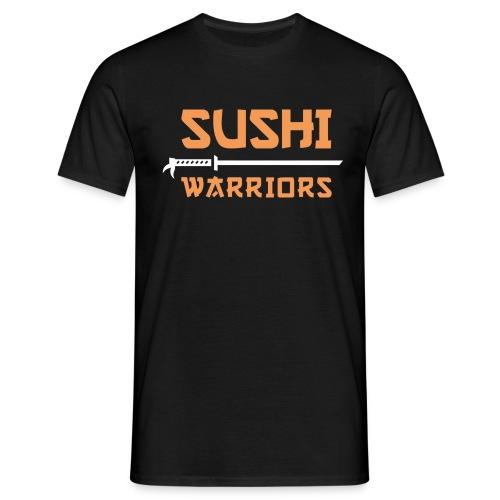 bunt hell Sushi Warriors Logo Wortmarke - Männer T-Shirt