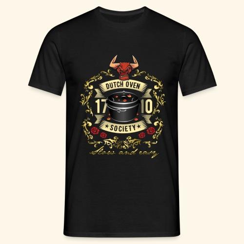 Grill-T-Shirt Dutch Oven Society - Geschenkidee! - Männer T-Shirt