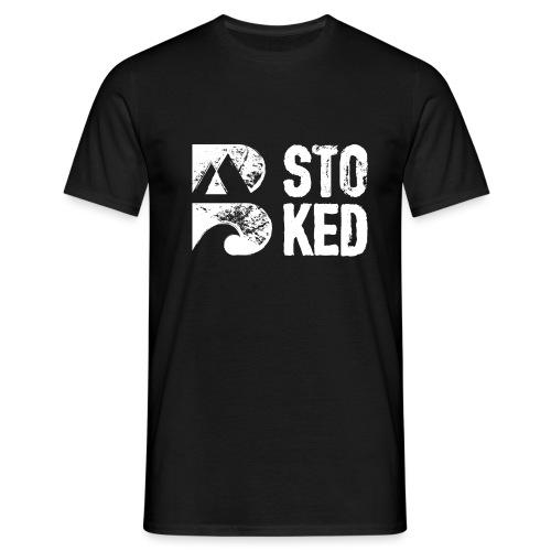 bstoked logo white - Men's T-Shirt