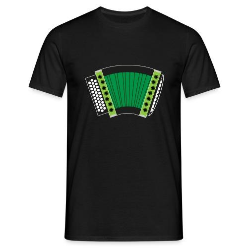 Schwyzerörgeli grün schwarzer Hintergrund - Männer T-Shirt