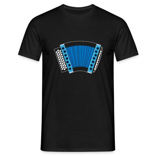 Schwyzerörgeli blau schwarzer Hintergrund - Männer T-Shirt