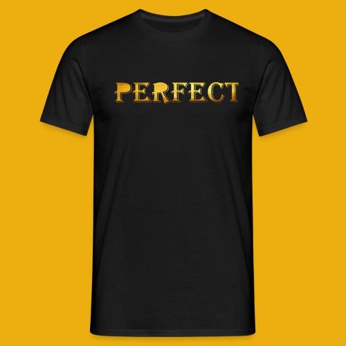perfect metalic gold merch - Men's T-Shirt