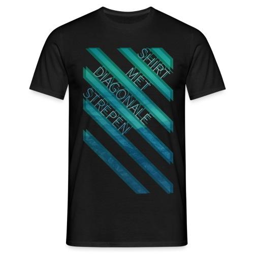 Diagonale strepen - Mannen T-shirt