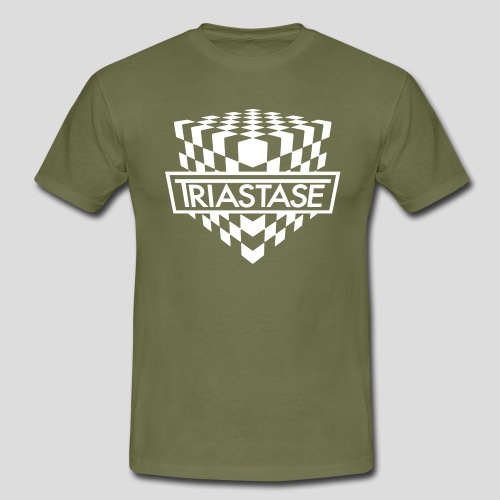 Triastase Logo White - Men's T-Shirt