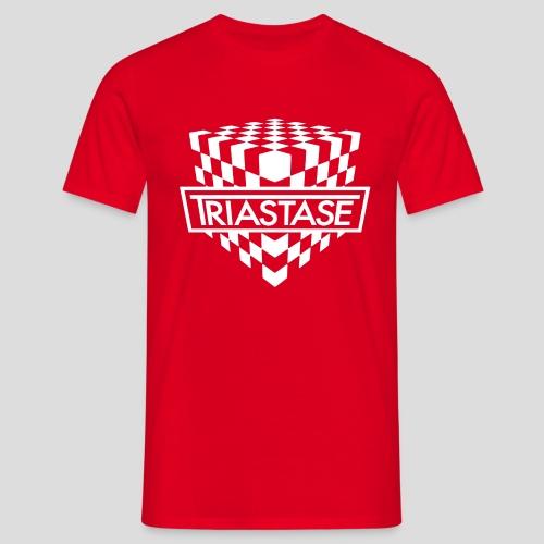 Triastase Logo White - Men's T-Shirt