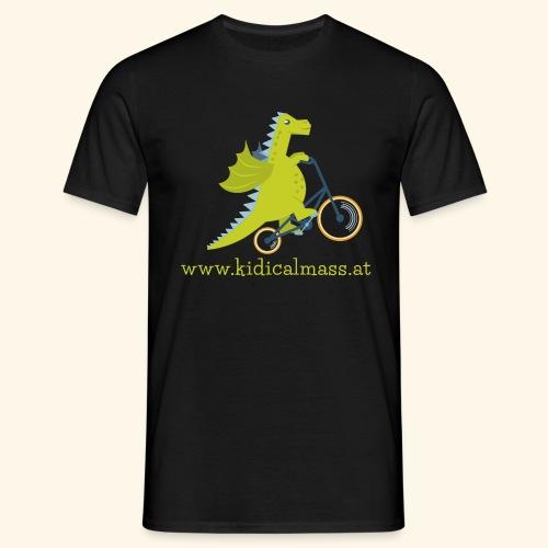 Musikdrache für dunklen Hintergrund - Männer T-Shirt