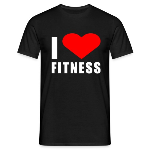 I LOVE FITNESS - Männer T-Shirt