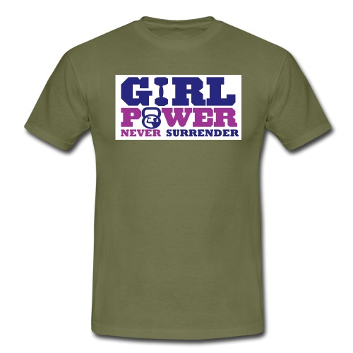 GIRL POWER NEVER surrender 01 - Camiseta hombre