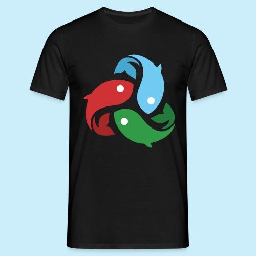 De fiskede fisk - Herre-T-shirt