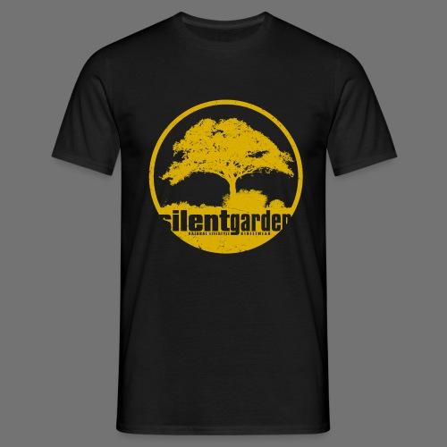 hiljainen puutarha (keltainen oldstyle) - Miesten t-paita