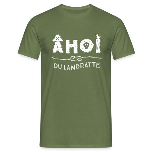 Ahoi maritimer Spruch mit Piratenhut - Männer T-Shirt