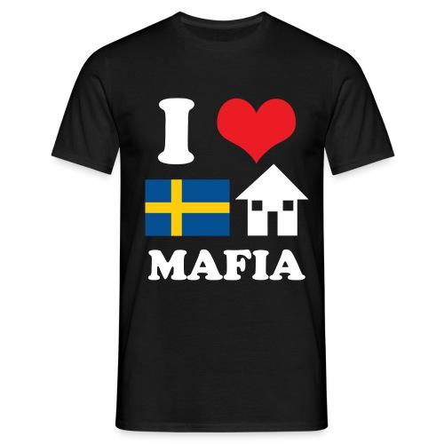 i love swedish house mafia black bg - Men's T-Shirt