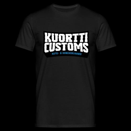 kuortti_customs_logo_main - Miesten t-paita