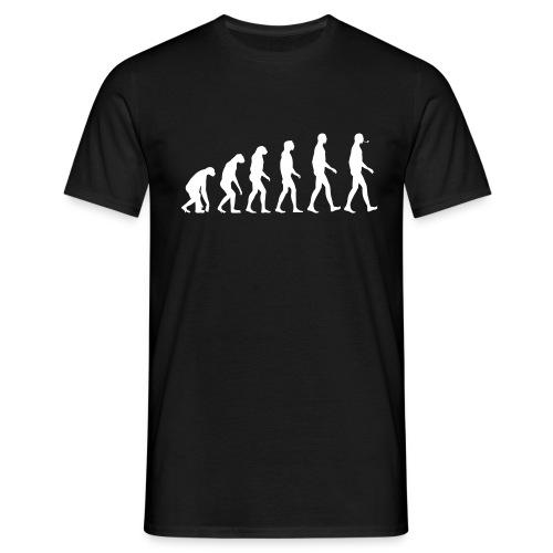 The Evolution of pipe Man - Men's T-Shirt