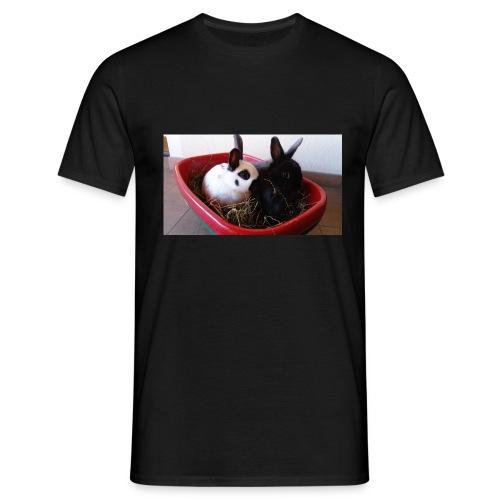 Warme Sachen mit dem Hasenlogo - Männer T-Shirt