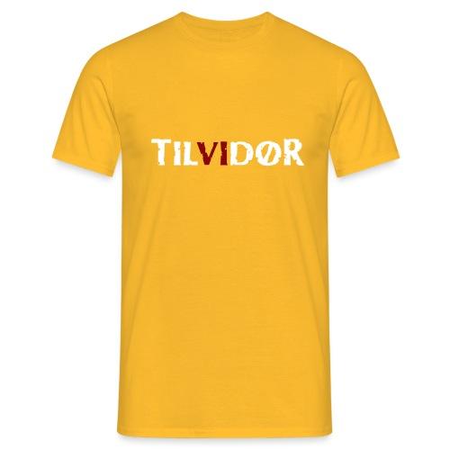 TVDteelogodarktbg copy - Herre-T-shirt