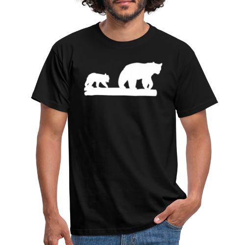 Bär Bären Grizzly Raubtier Wildnis Nordamerika - Männer T-Shirt